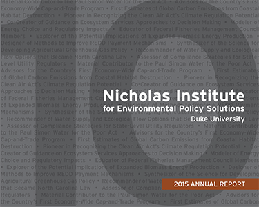 Nicholas Institute 2015 Annual Report