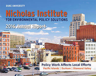 Nicholas Institute 2016 Annual Report
