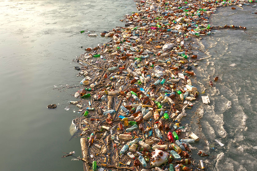 Plastic pollution credit iStock user panaramka