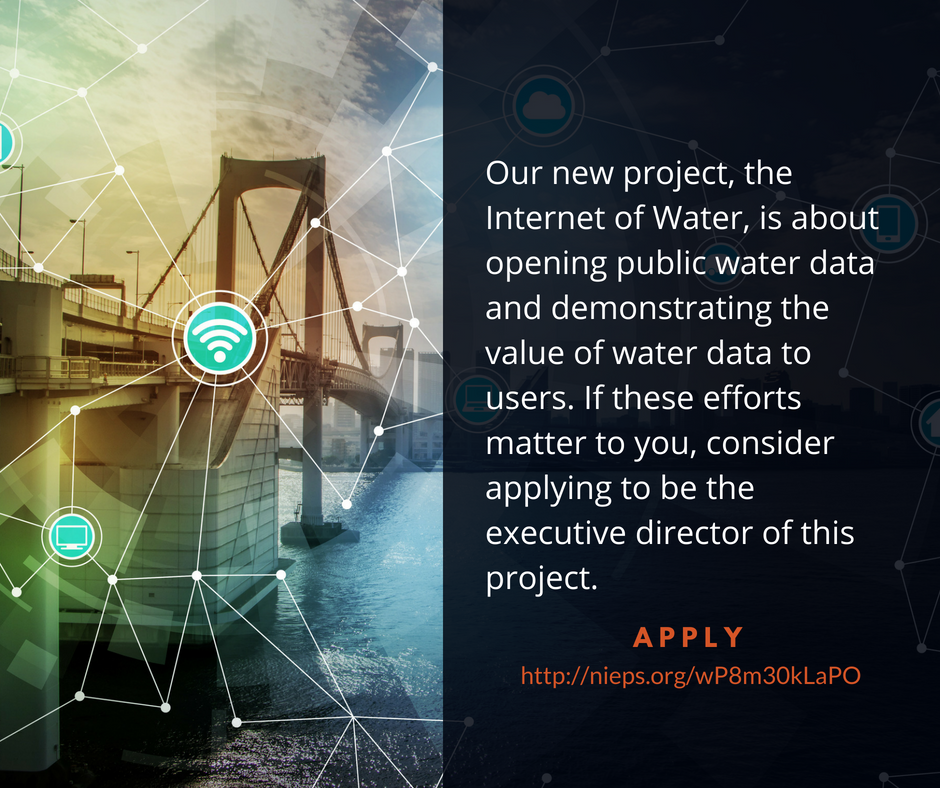 Internet of Water director advertisement