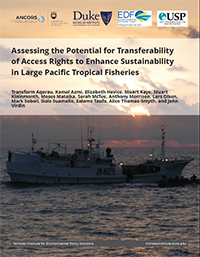 Assessing the Potential for Transferability of Access Rights to Enhance Sustainability in Large Pacific Tropical Fisheries cover