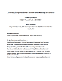 Assessing Ecosystem Service Benefits from Military Installations Cover