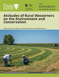 Attitudes of Rural Westerners on the Environment and Conservation Cover