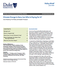 Climate Change Is Here, but Who Is Paying for It? Cover