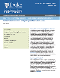 Conservation Priorities for Open Space Recreation Access Cover