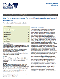 Life Cycle Assessment and Carbon Offset Potential for Cultured Milk Protein cover