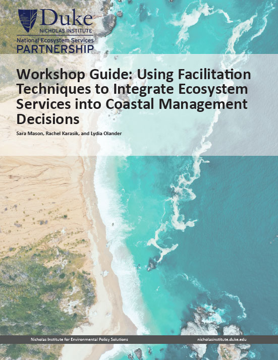 Workshop Guide: Using Facilitation Techniques to Integrate Ecosystem Services into Coastal Management Decisions