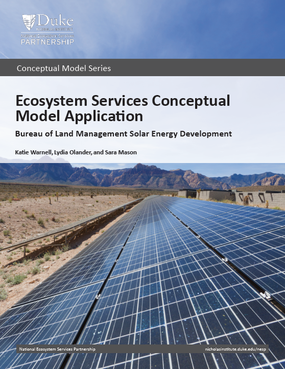 Ecosystem Services Conceptual Model Application: Bureau of Land Management Solar Energy Development