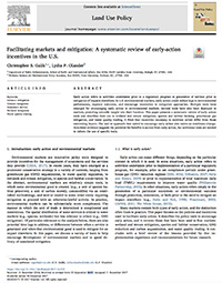 Facilitating Markets and Mitigation: A Systematic Review of Early-Action Incentives in the U.S.