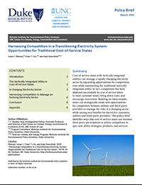 Harnessing Competition in a Transitioning Electricity System: Opportunities for Traditional Cost-of-Service States