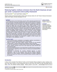 Reducing Fugitive Methane Emissions from the North American Oil and Gas Sector: A Proposed Science-Policy Framework