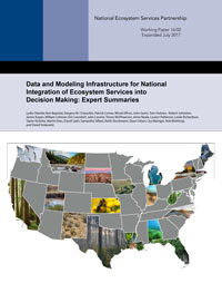 Data and Modeling Infrastructure for National Integration of Ecosystem Services into Decision Making: Expert Summaries