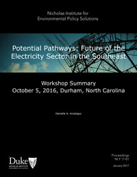 Potential Pathways: Future of the Electricity Sector in the Southeast—Workshop Summary, October 5, 2016, Durham, North Carolina