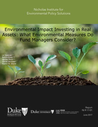 Environmental Impact Investing in Real Assets: What Environmental Measures Do Fund Managers Consider?