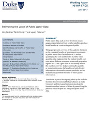 Estimating the Value of Public Water Data