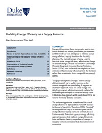 Modeling Energy Efficiency as a Supply Resource