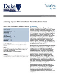 Assessing Impacts of the Clean Power Plan on Southeast States