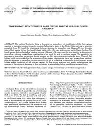 Flow-Biology Relationships Based on Fish Habitat Guilds in North Carolina