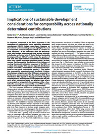 Implications of Sustainable Development Considerations for Comparability across Nationally Determined Contributions