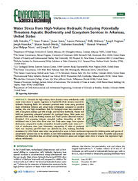 Water Stress from High-Volume Hydraulic Fracturing Potentially Threatens Aquatic Biodiversity and Ecosystem Services in Arkansas, United States