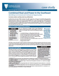 Combined Heat and Power in the Southeast: Identifying Commercial and Institutional Opportunities