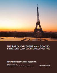 The Paris Agreement and Beyond: International Climate Change Policy Post 2020