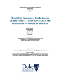 Regulating Greenhouse Gas Emissions under Section 111(D) of the Clean Air Act: Implications for Petroleum Refineries