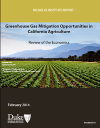 Greenhouse Gas Mitigation Opportunities for California Agriculture: Review of the Economics