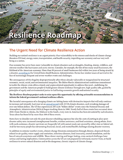 Resilience Roadmap: The Urgent Need for Climate Resilience Action