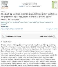 The EMF 32 study on technology and climate policy strategies