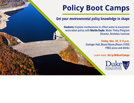 Policy Boot Camp: Water and Ecosystem Restoration Policy