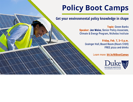 Policy Boot Camp: Green Banks