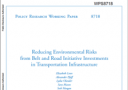 Reducing Environmental Risks from Belt and Road Initiative Investments in Transportation Infrastructure